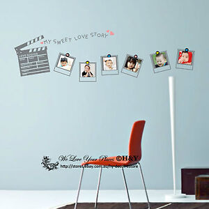 Picture Photo Frames Wall Stickers Vinyl Wall Decal Removable Kids Nursery Decor