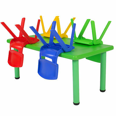 Kids Multicolor Playroom Activity Play Craft Table 4 Chair Set Safe Round Corner](Kids Craft Table)