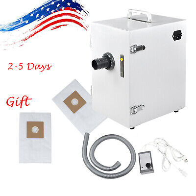 Dental Digital Single-row Dust Collector Vacuum Cleaner Lab Equipment W Bag