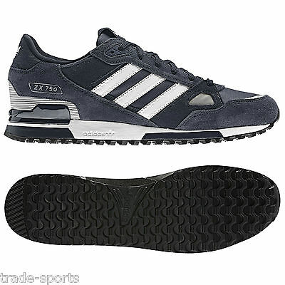 (adidas ORIGINALS MENS ZX 750 UK SIZE 7 8 9 10 BLUE RUNNING TRAINERS SHOES NEW)