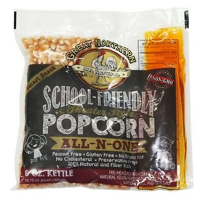 School Friendly Great Northern Popcorn 8 Ounce Popcorn Portion Packs Case Of 24