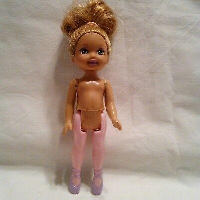 Mattel inc.1994 Barbie Kelly Ballerina Doll Nude Dirty Blond OOAK Costume Girl