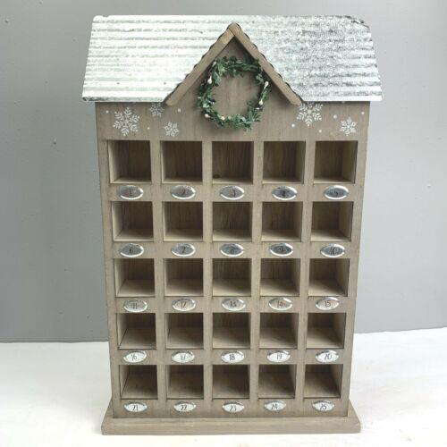 Wooden Advent Calendar Wood Shelf Curio Cubby Christmas Hobby Lobby Storage