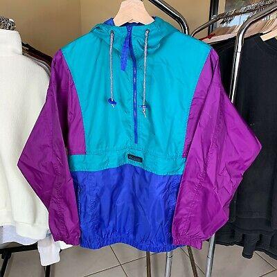 Vintage 90s Columbia Color Block Windbreaker Jacket Size S