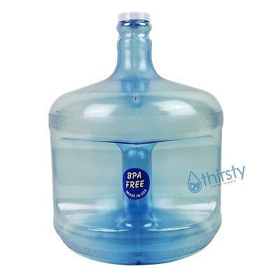 BPA Free 3 Gallon Water Bottle Drinking Plastic Dispenser Aqua H2O Jug Canteen