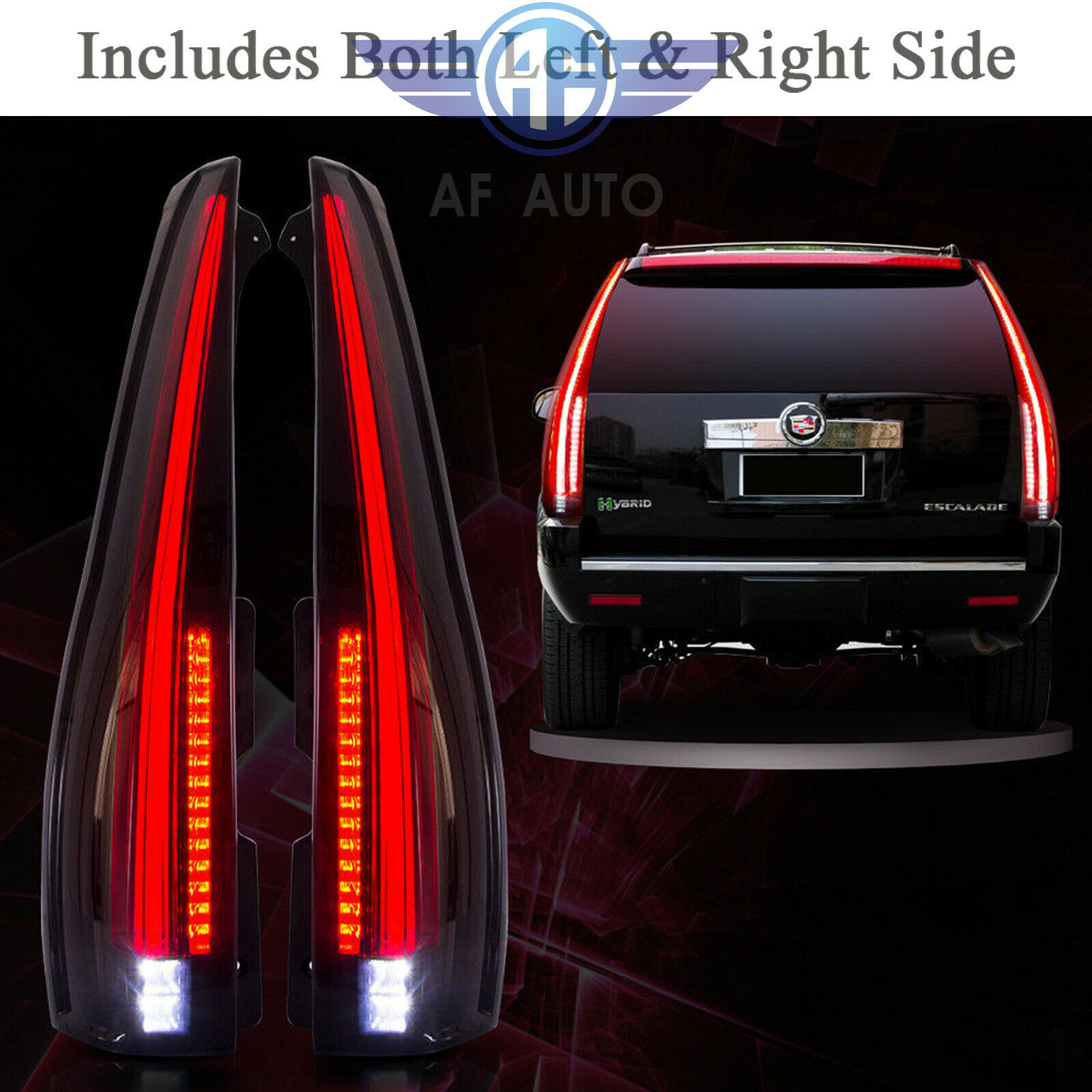 For 2007-2014 Cadillac Escalade ESV Smoked Tail Lights