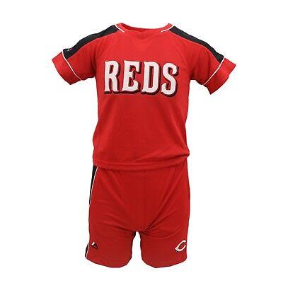 Cincinnati Reds MLB Majestic Kids Athletic Shirt & Shorts Combo Set New Tags - Mlb Kids Shorts