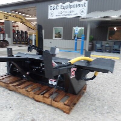 Firewood Wood Log Processor Attachment Bobcat Cat Deere Gehl Skid Steer Hwp-140b
