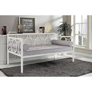 white metal daybed frame contemporary day bed twin size home guest room new - Day Bed Frames