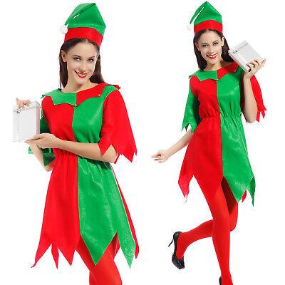 Weihnachten Elfen Kostüme (Elfenkostüm Damen Weihnachten Geschenk Elfenkleid Elfe Fee Märchen Märchenfee)