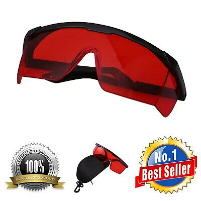 Safety Glasses For Red And Uv Lasers Eye Protection With Case Polycarbonate Lens