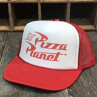Pizza Planet Trucker Hat Vintage Style Cosplay Snapback Delivery Driver Costume