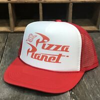 74c029215cc66 Pizza Planet Trucker Hat Vintage Style Cosplay Snapback Delivery Driver  Costume