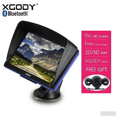"2018 XGODY 7"" Portable GPS Navigation with Wired Reverse Backup Camera Free Map"