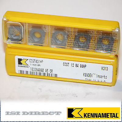 Ccgt 431 Hp K313 Kennametal 10 Inserts Factory Pack