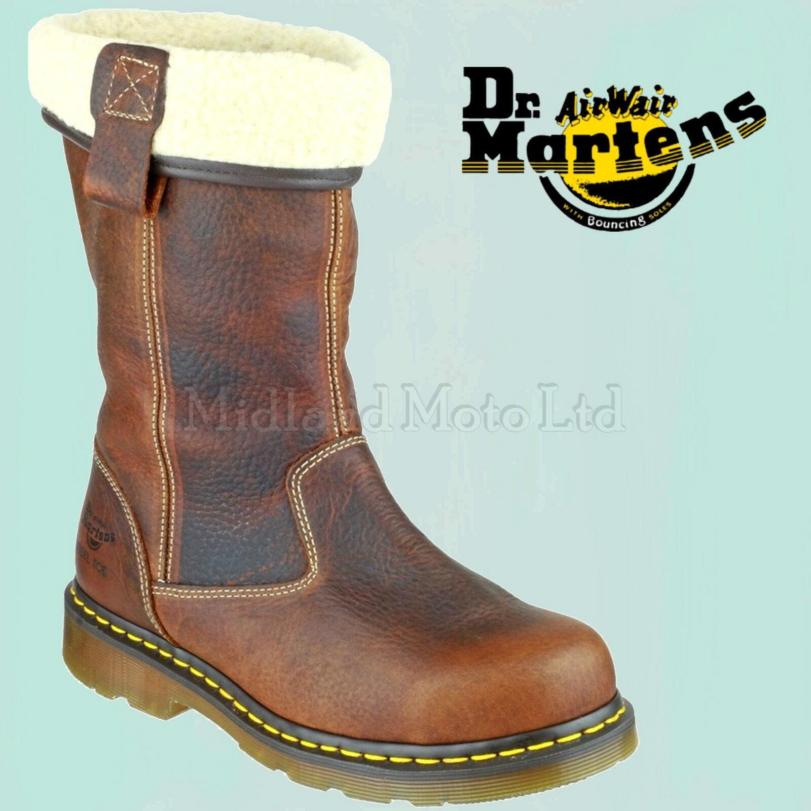 869e22fcc8c Dr Martens Steel Toe cap Ladies Rosa ST Rigger Safety Boot 6807 DM