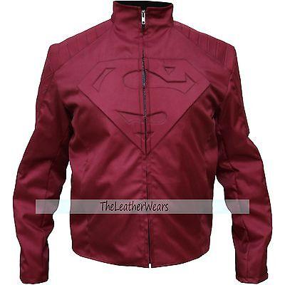 Cordura Jacket :  Superman Burgundy Smallville Man of Steel Jacket - All Sizes