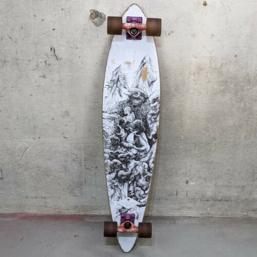 "Arbor Skateboards 39"" Bamboo Longboard Complete Black White"