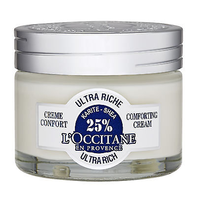 L'Occitane Shea Butter Ultra Rich Comforting Cream Dry Very Dry Skin 50ml NEW