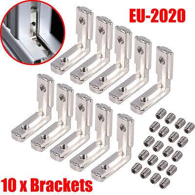 10x T Slot Aluminum Profile Eu 2020 Series L-shape 90 Corner Joint Connector Us