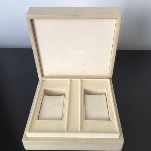 Poiray - enorme Écrin en daim pour 2 montres watch box