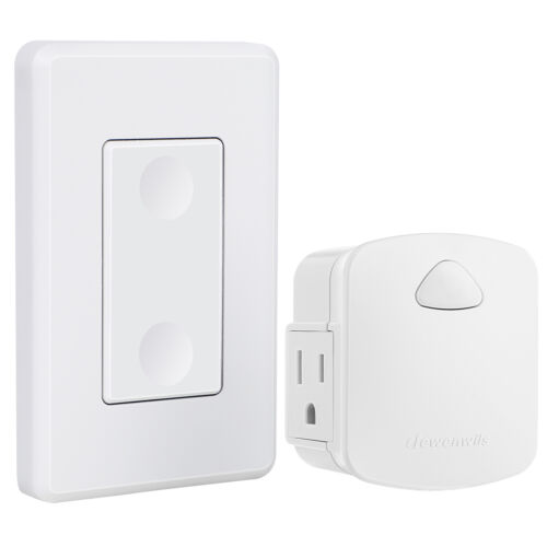 DEWENWILS Electrical Wall Control Outlet Wireless Remote Light Switch HRLS11K2