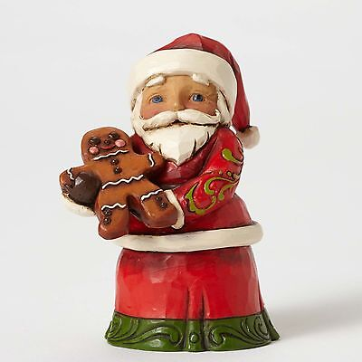 Jim Shore Heartwood Creek Mini Santa With Gingerbread Man New 2016 !