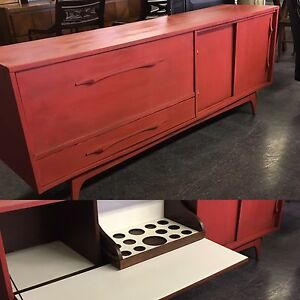 RETRO REFINISHED LIQUOR CABINET $645