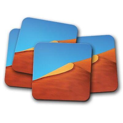 4 Set - Sand Dunes Coaster - Sahara Desert Travel Egypt Hot Sun Dune Gift #15397 - Dune Gift Set