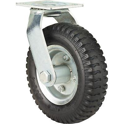 Ironton 8in. Swivel Pneumatic Caster - 250-lb. Capacity Lug Tread