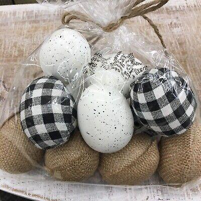 Decorated Easter Eggs (Easter eggs farm house buffalo plaid burlap speckled decor 12)