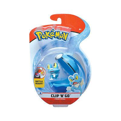 Wicked Cool Toys Pokemon Clip N Go Froakie Set NEW IN STOCK