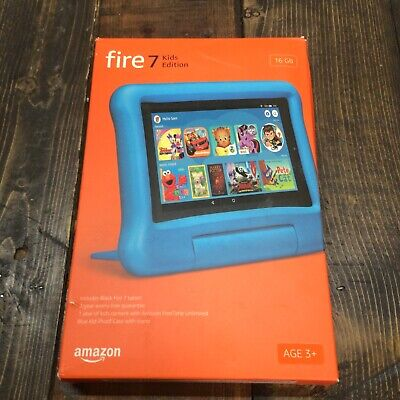 """Amazon BLUE Fire 7 Kids Edition Tablet 7"""" 16 GB - 9th Gen OPEN (READ)"""