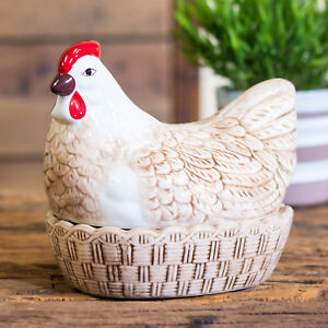 Mason Cash Brown Hen Egg Holder Kitchen Storage Nest Basket Cockerel Chicken