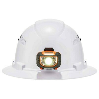New Ergodyne Skullerz 8973led Class C Full Brim Hard Hat Led Light Wratchet