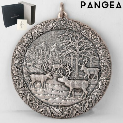 Buccellati 2005 Reindeer Gathering 925 Sterling Silver Annual Ornament ITALY