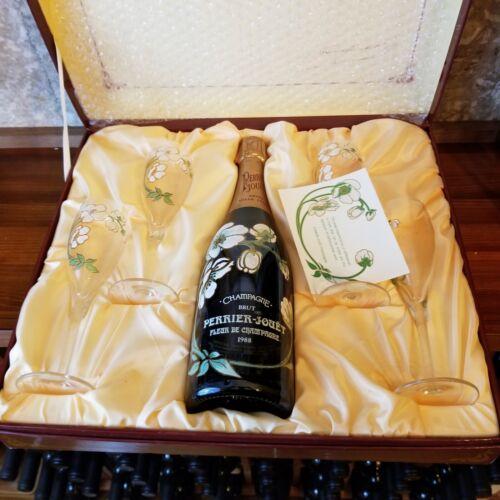 1988 Perrier Jouet Belle Epoque Fleur de Champagne Brut in Gift Box w/ Flutes