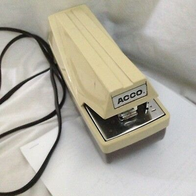 Acco Electric Stapler Model No. 105 Heavy Duty Commercial Office Industrial Desk