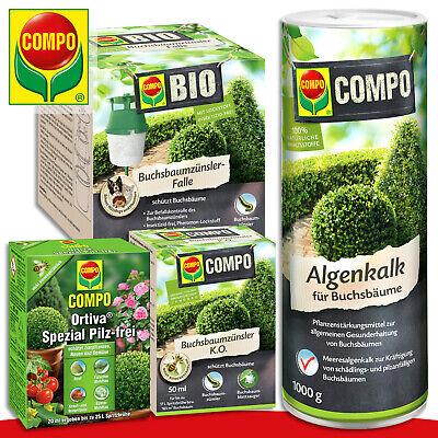 COMPO 4er Buchsbaum-Pflege-Set: Algal Limestone, Zünsler-falle, Zünsler K.O ,