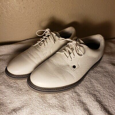 MensG Fore Gallivanter Golf Shoes Collection White Pebbled Leather Size 11 US