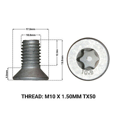 2X FRONT BRAKE DISC RETAINING SCREWS FITS: LANDROVER FREELANDER 06-13 DRS1670D