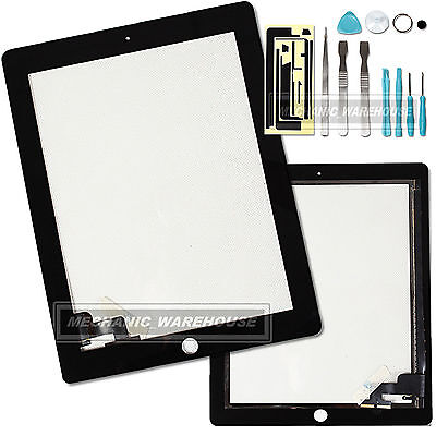 Black Replacement Touch Screen Digitizer Front Glass Display For IPAD 2 Tools UK