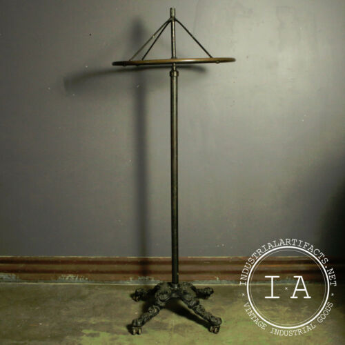C. 1900 Oxidized Copper Japanned Cast Iron Garment Rack Coat Rack