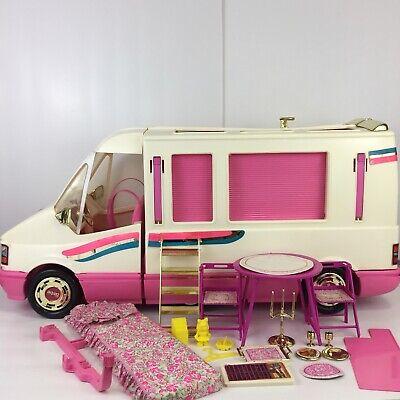 VTG 1992 Barbie Golden Dream Motor Home 99% Complete Camper RV Van Playset Matte