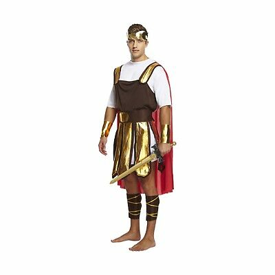 Roman Soldier Mens Fancy Dress Up Outfit Costume Gladiator Male NEW (Mens Dress Up Outfits)