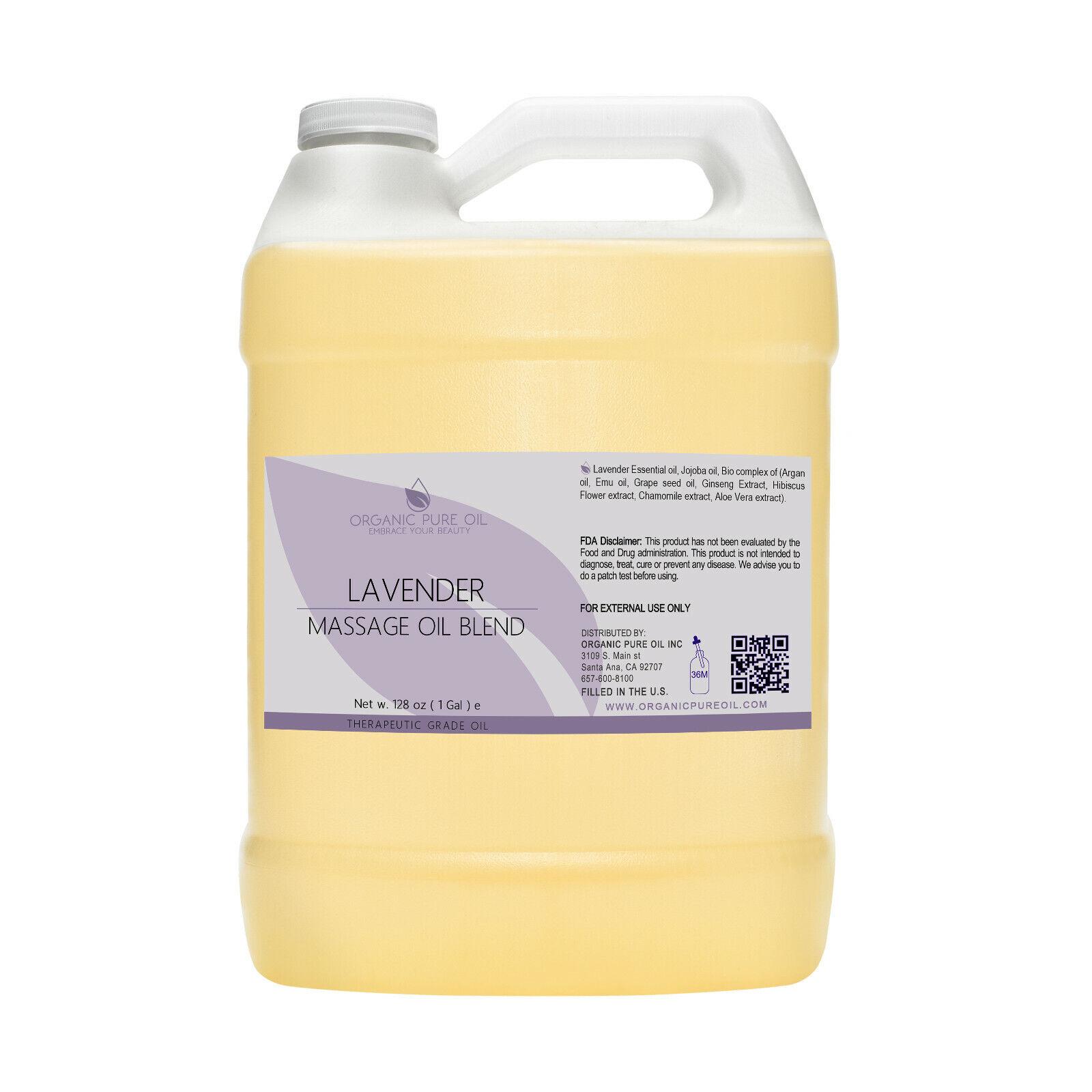 Lavender essential oil massage blend 1 gal bulk argan jojoba