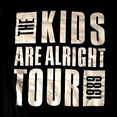 1989 TOUR THE WHO VINTAGE T-SHIRT RFK STADIUM,WASH,DC DISTRESSED PETE TOWNSHEND