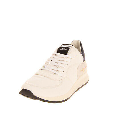 RRP €230 PHILIPPE MODEL Leather Sneakers EU 43 UK 9 US 10 Logo Made in Italy