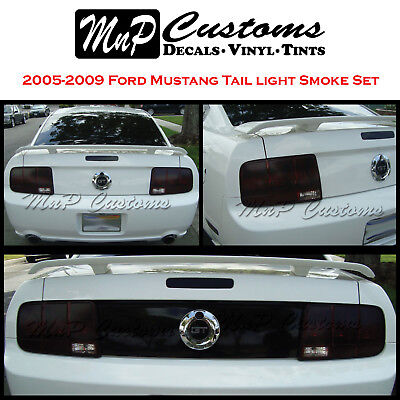 2005 Tail Light Tint (2005-09 Ford Mustang Complete Tail light Smoke Blackout Vinyl Overlay Tint)