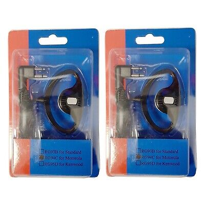2 x Maplin PMR Radio Earpiece With PTT Switch & Lapel Microphone For Motorola